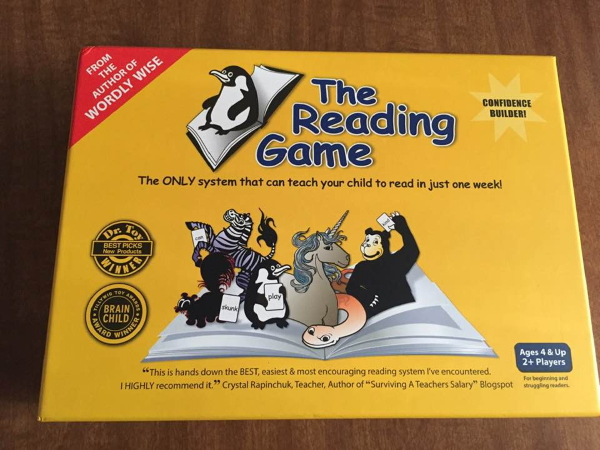 Teaching a Child to Read with The Reading Game @ LifeInTheNerddom.com