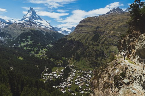 Zermatt from above.
