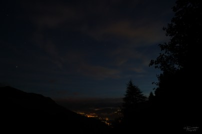 Long exposure capture from the beginning of the hike.