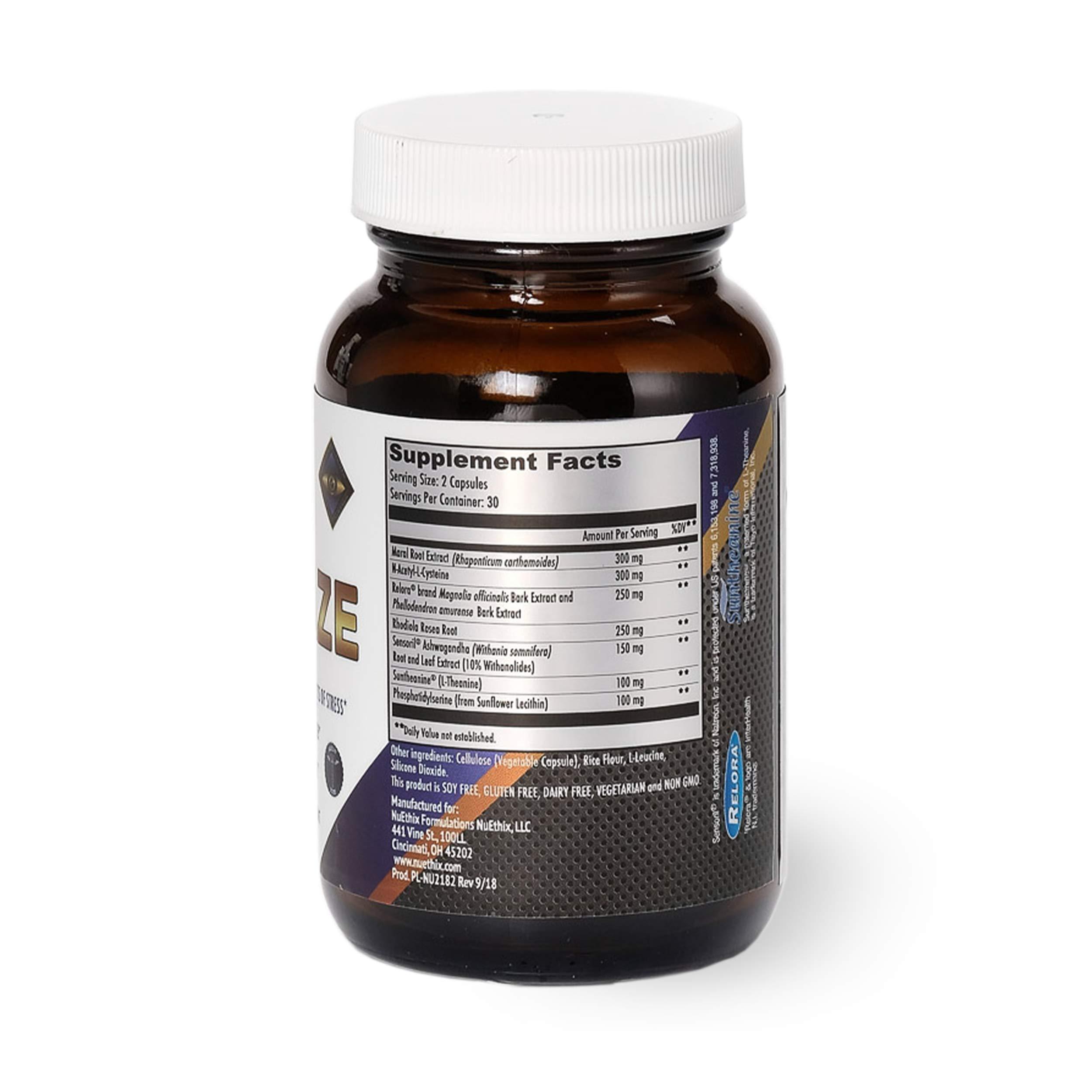 NuEthix Formulations Cort-Eaze Cortisol-Control Supplement ...
