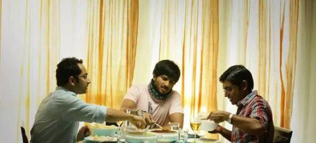 Fahadh Faasil, Dulquer Salmaan, Nivin Pauly  - two many cousins spoil the froth