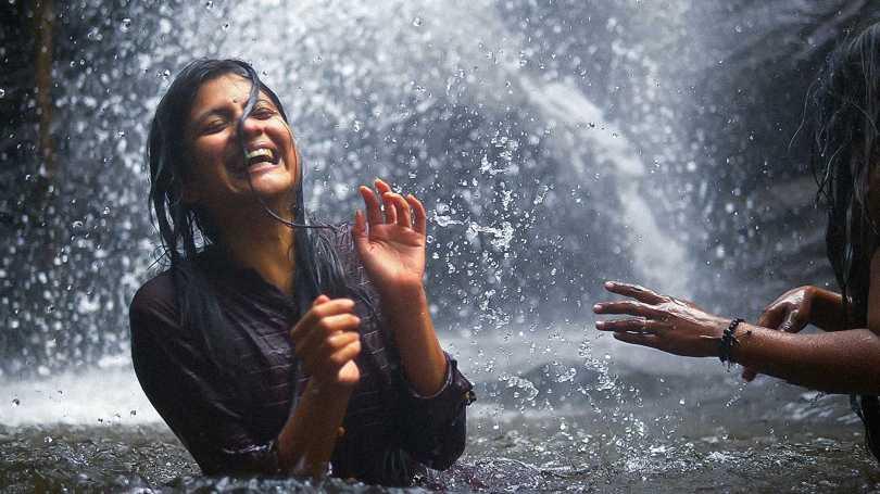 Aditi Balan - water-falling in love