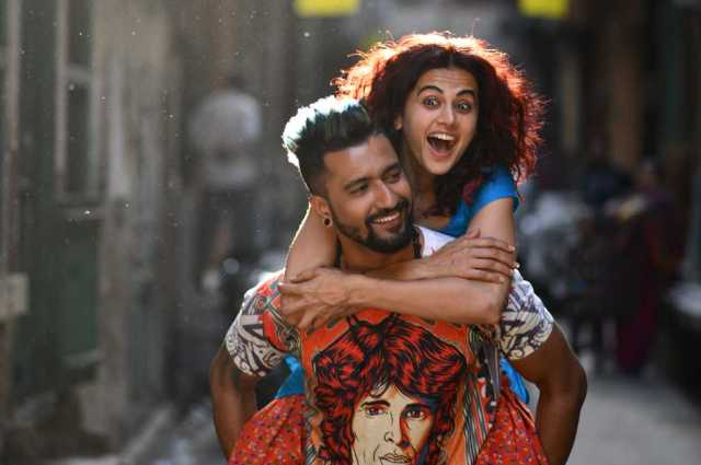 Tapsee Pannu is on top of Vicky Kaushal. And the movie.