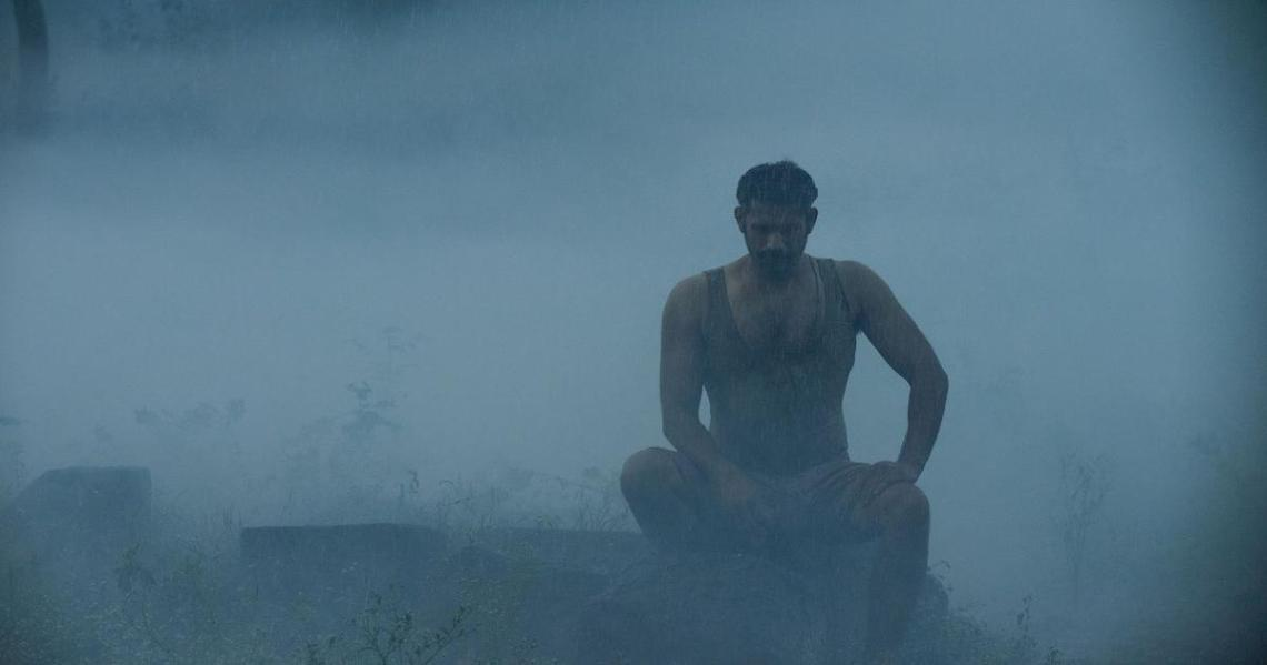 Sohum Shah doesn't get the rain get to him.