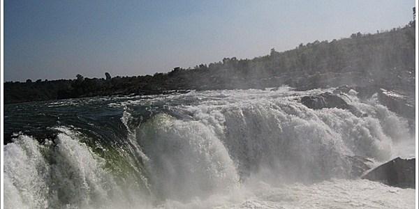 """Faith, Colour and the Misty """"Dhuandhar"""" Falls, Jabalpur, India"""