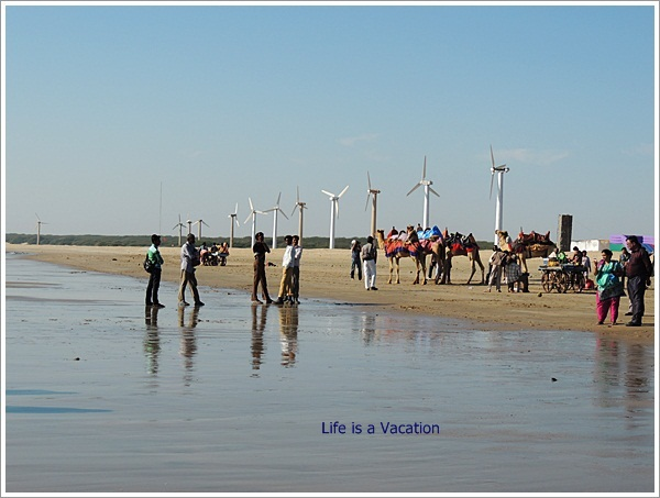 Mandvi Trip Windmills on Beach