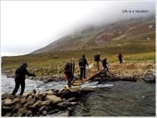Kashmir Great Lakes Stream Crossing in Gangbal