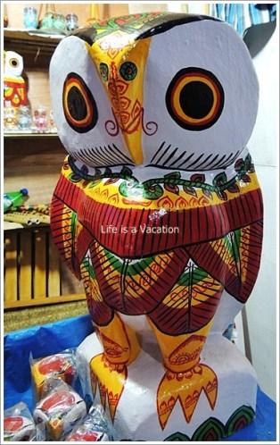 Wooden Owls from Burdwan, Bengal