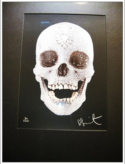 Skull in Diamond Museum Amsterdam