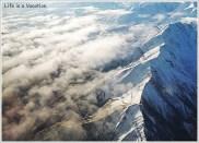 Flying over Himalayas- Delhi to Leh Flight