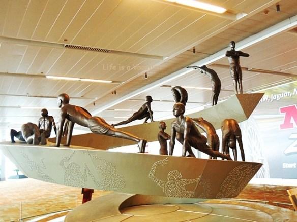 Surya Namaskar in Delhi Airport