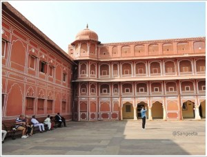City Palace Courtyard Jaipur
