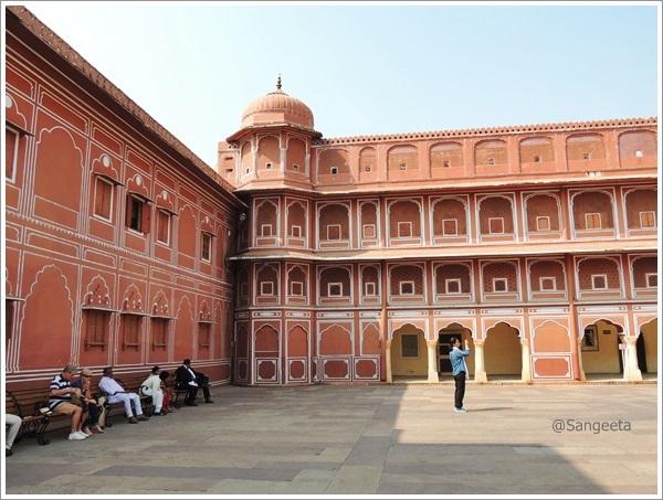 City Palace Courtyard Jaipur
