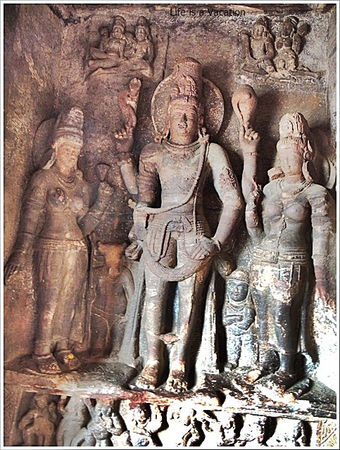 Badami Caves-Cave1-Sculpture