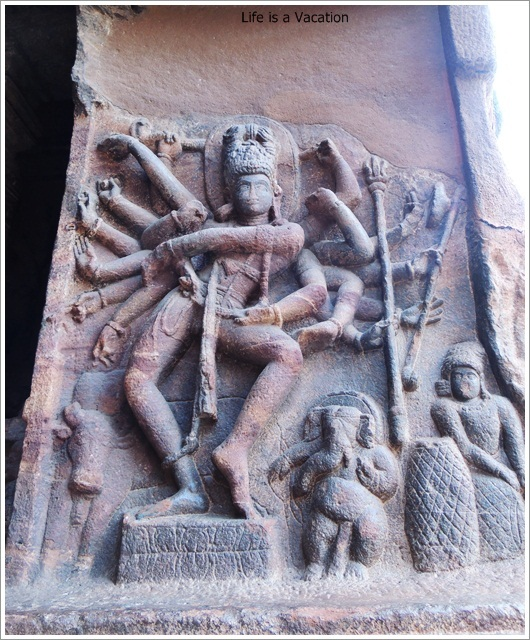 Badami Caves-Cave2-Shiva