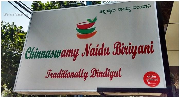 Dindigul Biryani in Chinnaswamy Naidu, Bangalore