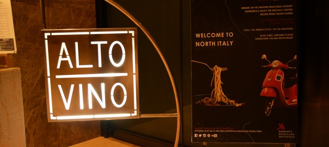 """Sera Italiano""; Northern Italy Food Fest in Alto Vino, Marriott"
