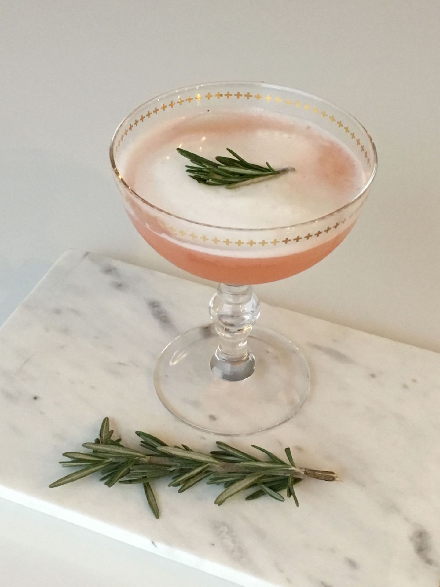 Rio Red Grapefruit and Rosemary Cocktail