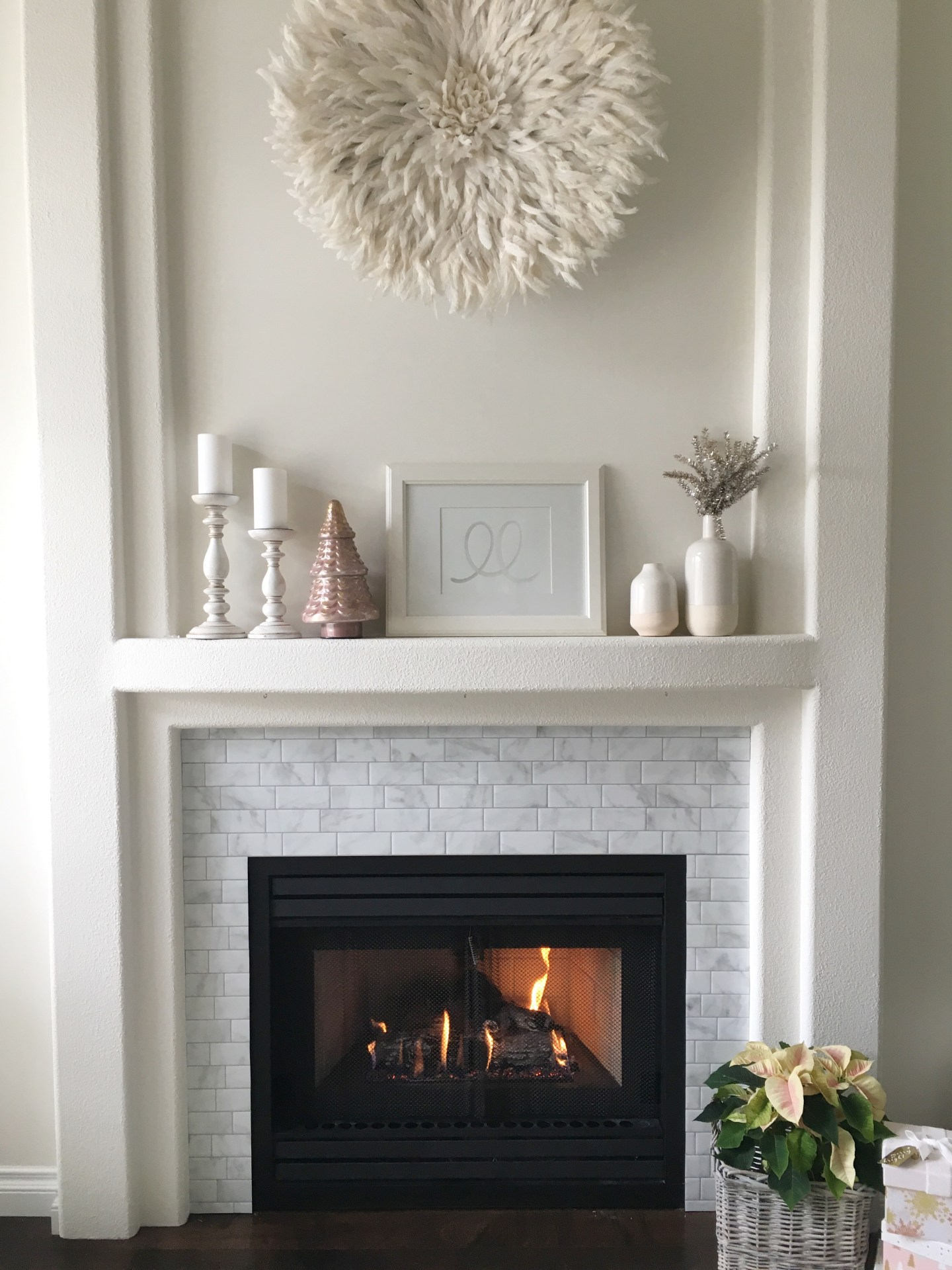 Smart Tiles DIY Fireplace Makeover