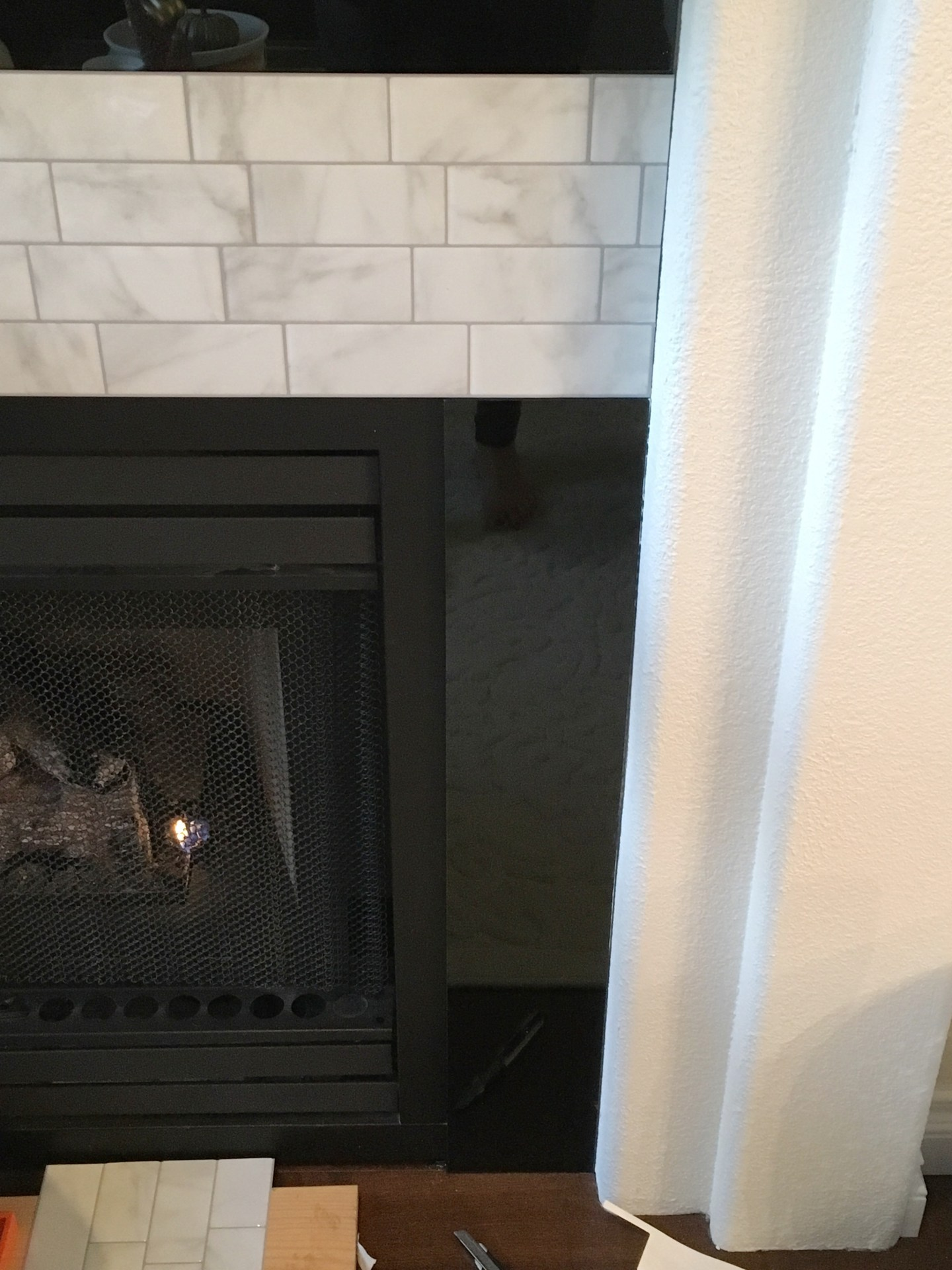 Diy Fireplace Makeover Peel And Stick