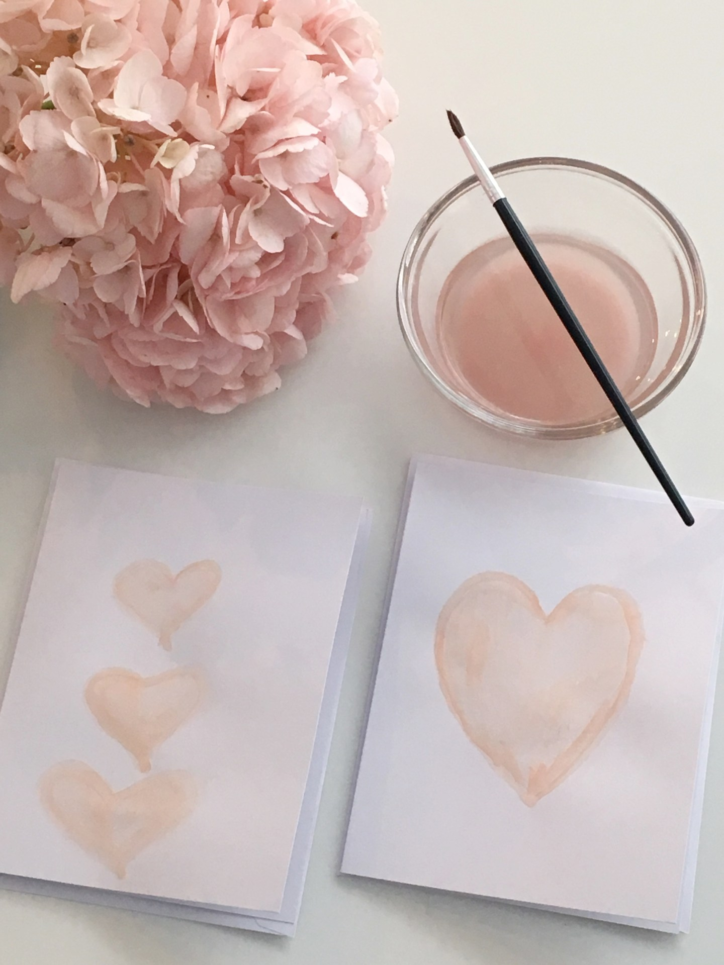 Easy Watercolour Valentine's Cards