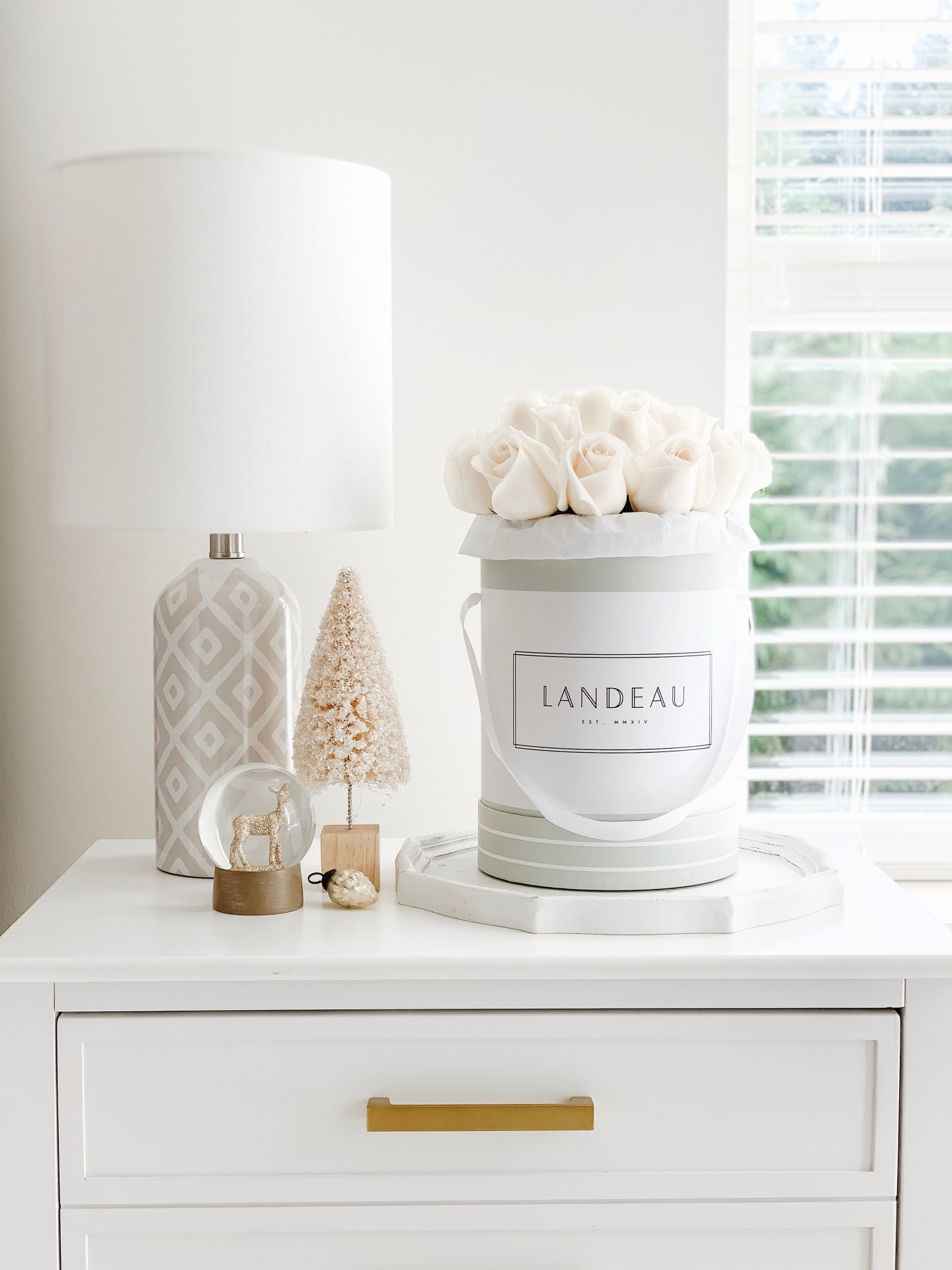 decorating for the holidays nightstand