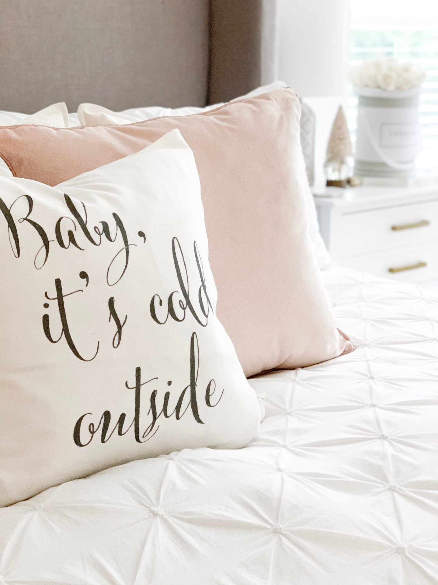 decorating for the holidays pillows
