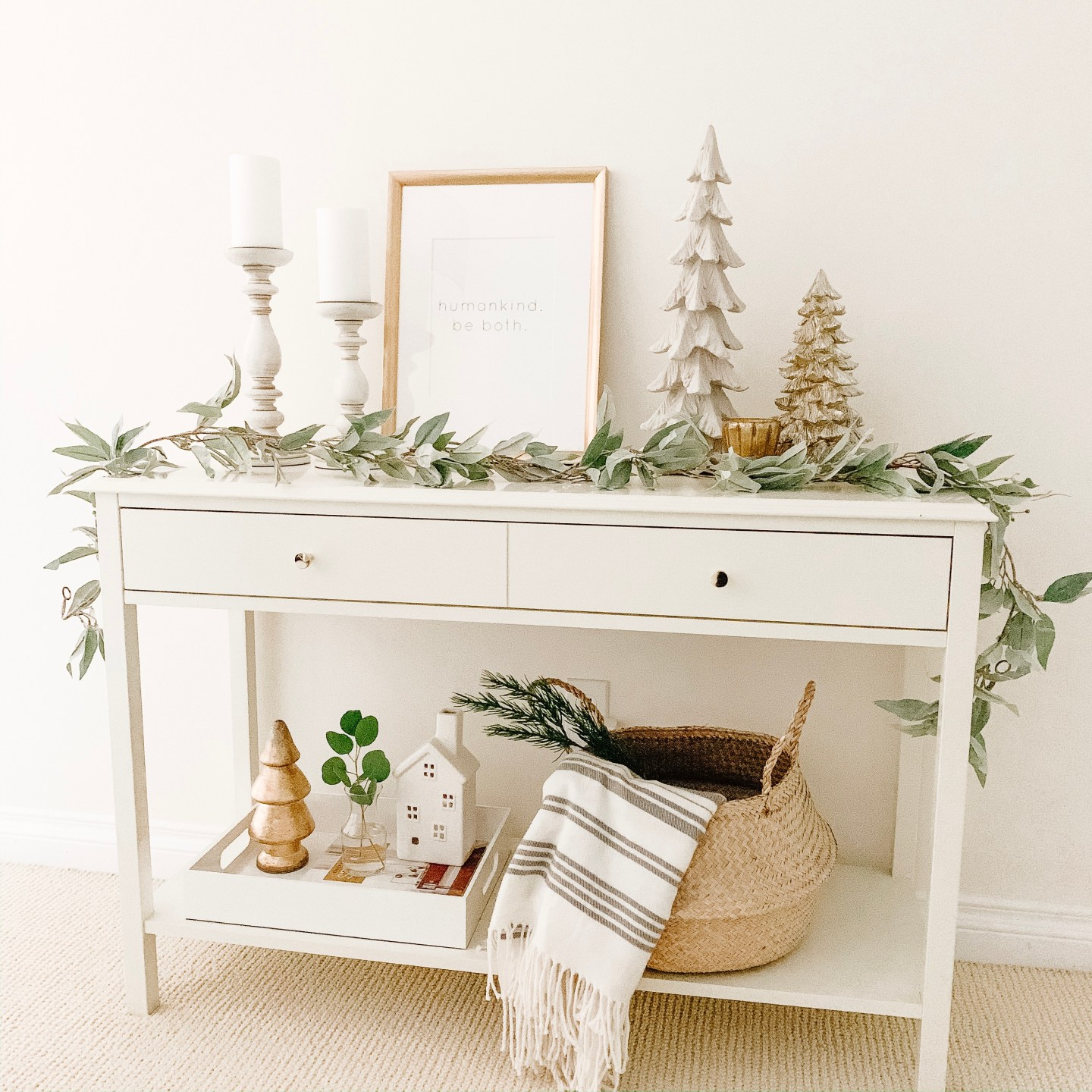 holiday console table