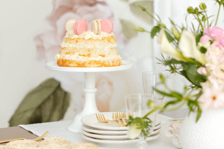 Macaron Angel Food Cake