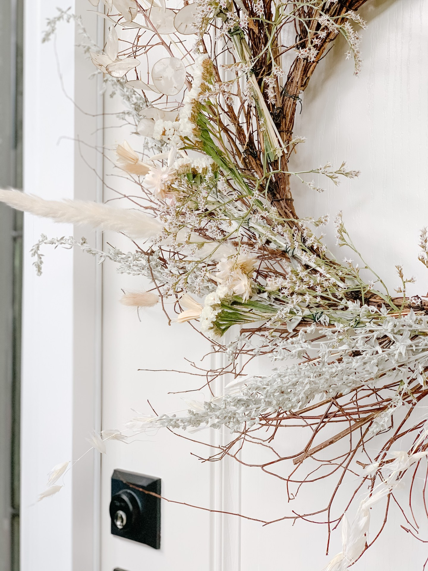 dried floral fall wreath diy