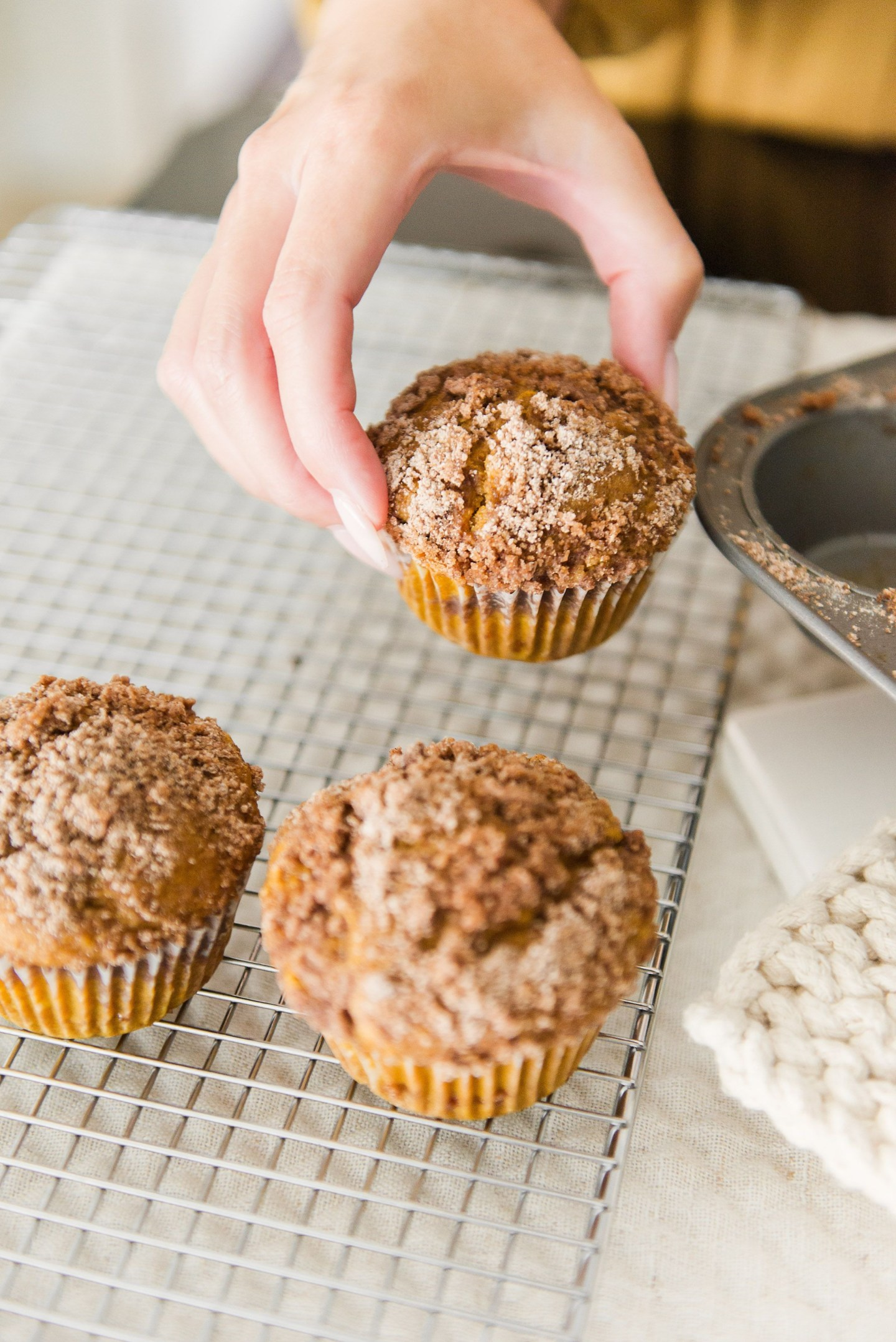 Pumpkin Spice Streusel Topped Muffins