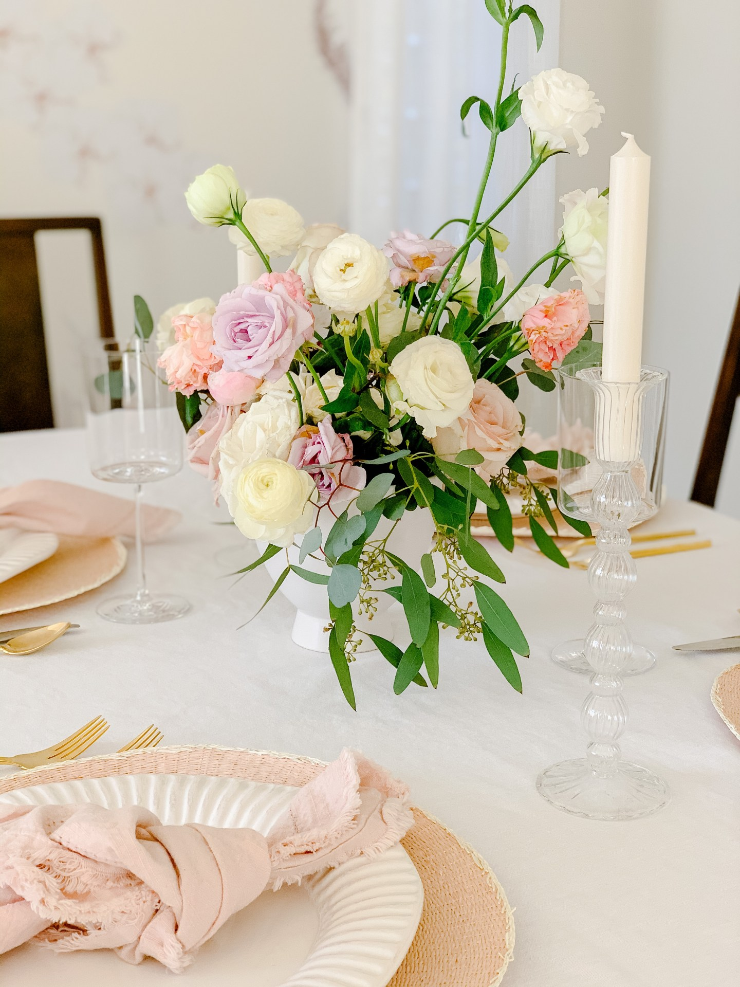 Simply Beautiful Valentine's Day Table Setting