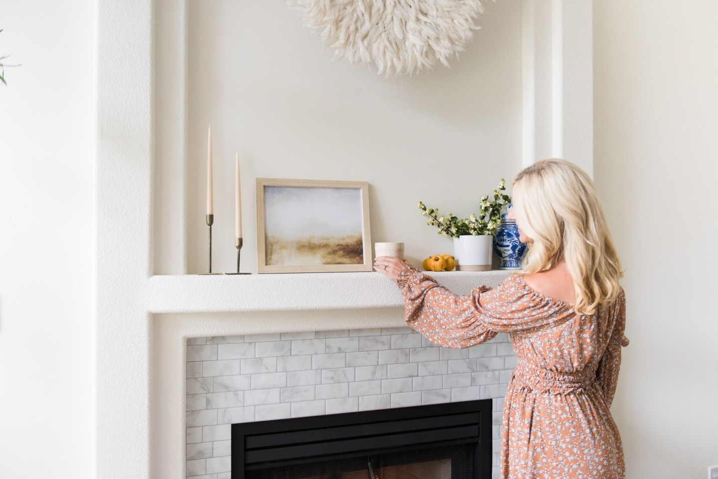 My Fall Mantel: Tips for creating a cozy and inviting space