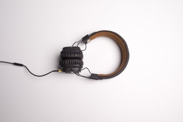 Headphones to listen to a Greenwich Pantry podcast.