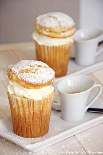 Gefüllte Jumbo-Eierlikör-Muffins