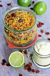 Gebratener Orientalischer Reissalat mit Limettendip