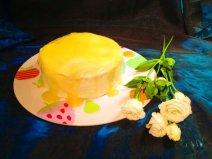 Zitronenkuchen mit Lemoncurd-Frosting von Anne von Eulenhöhle http://eulenhoehle.blogspot.de/2014/05/zitronenkuchen-mit-lemoncurd-frosting.html