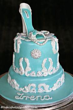 Mint High Heel Cake