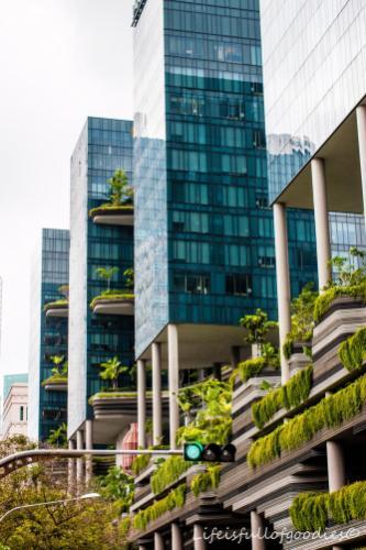 Grüne Wolkenkratzer