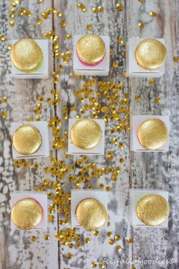 Macarons mit echtem Blattgold von Sweet Couture