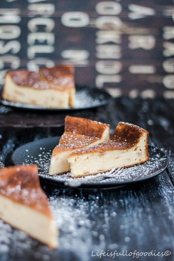 Birnen-Käsekuchen mit Grieß und wie es mit dem Fasten so klappt…