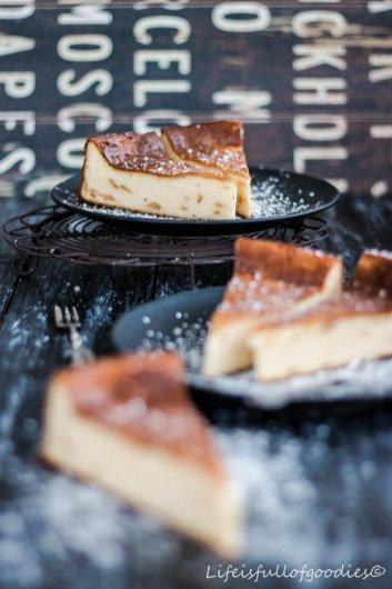 Birnen-Käsekuchen mit Grieß