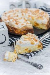 Baiser-Käsekuchen mit Mandarine