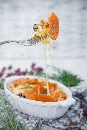 Überbackener Süßkartoffelauflauf