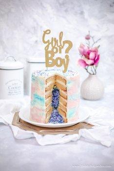 Ein Gender Reveal Cake