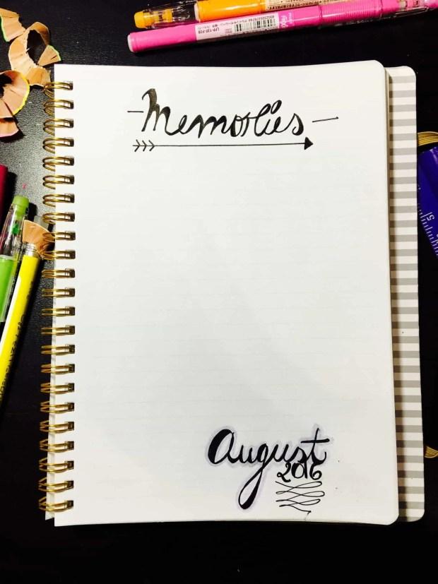 bullet journal august layout memories05