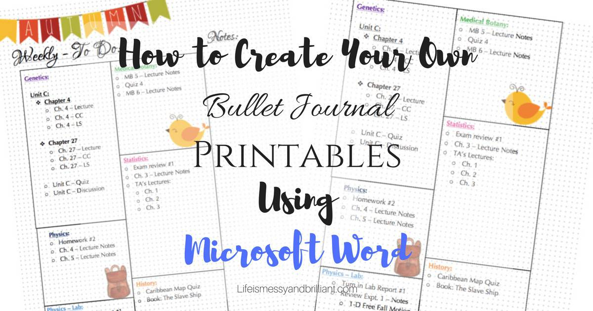 microsoft word journal