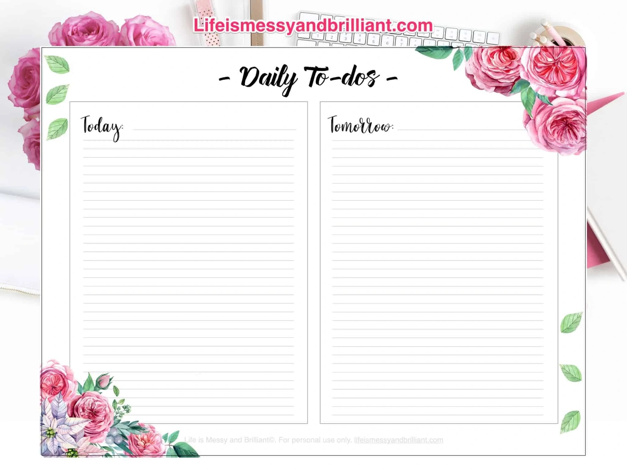 Free Daily To Do Bullet Journal Printable