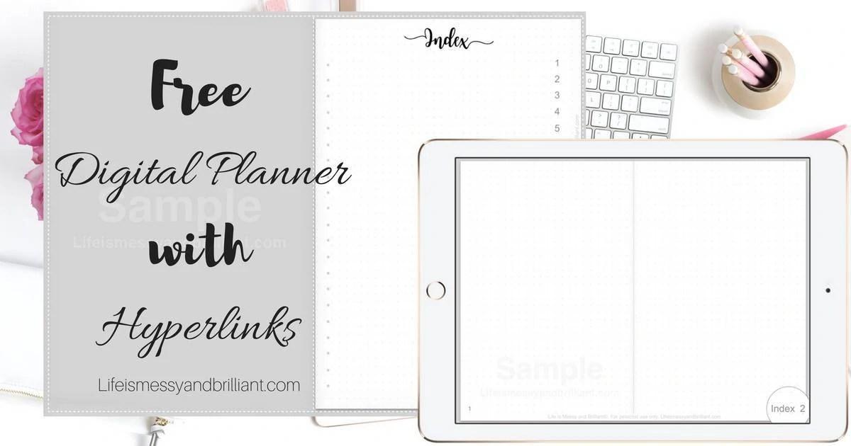 Free Digital Planner With Hyperlinks