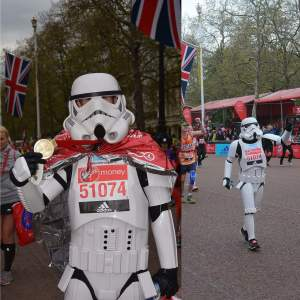 running in fancy dress- at VLM 2016